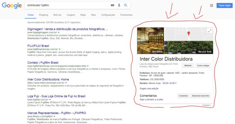 "Resultado da pesquisa Google para o termo ""distribuidor fujifilm"""